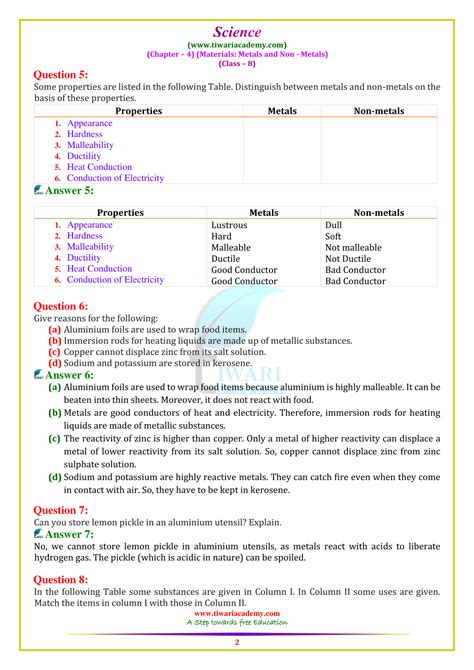 NCERT Solutions for Class 8 Science Chapter 4 in PDF for