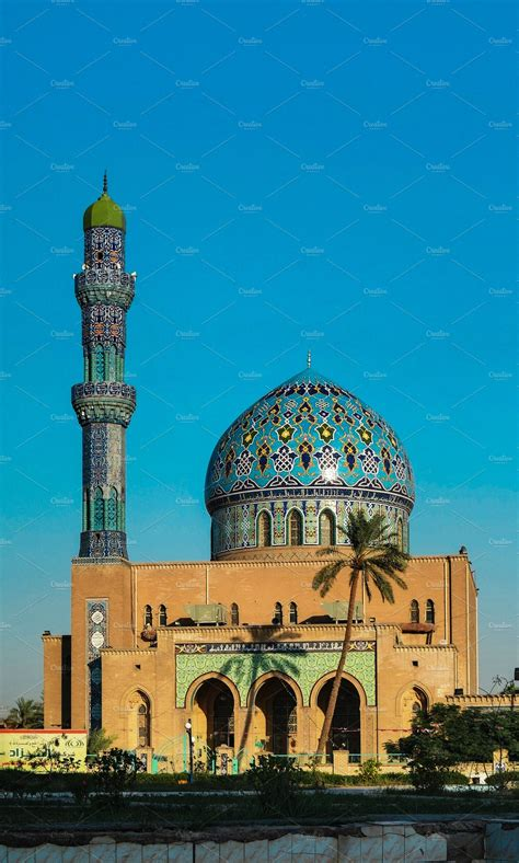 View to Al Fidos aka 17th ramadan Mosque in Baghdad at