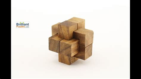 Notched Stick - 3D Wooden Puzzle Brain Teaser - YouTube