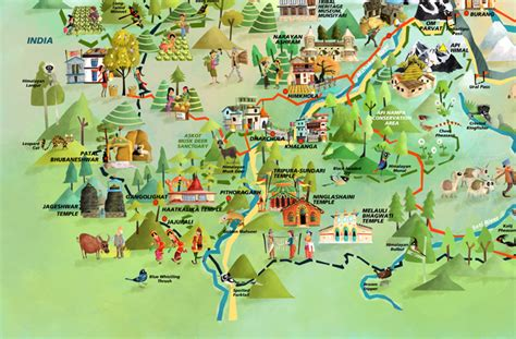 Green Humour: Kailash Sacred Landscape- an Illustrated Map