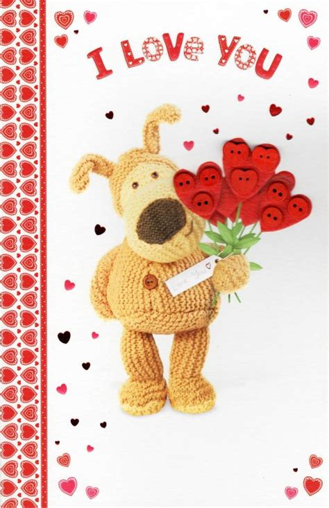 I Love You Boofle Valentine's Day Card   Cards