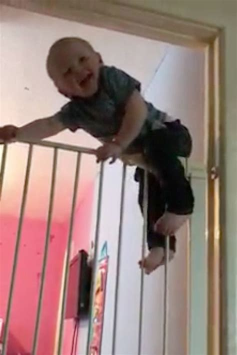 High-climbing Houdini toddler escapes from bedroom by
