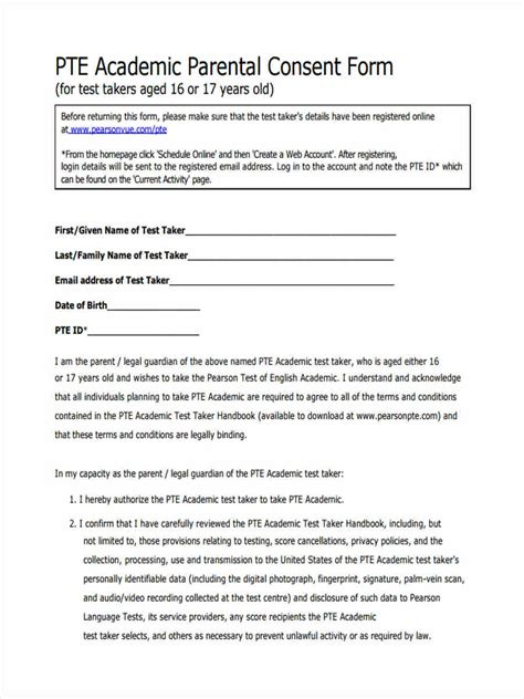 FREE 11+ Parental Consent Forms in PDF | Ms Word | Excel