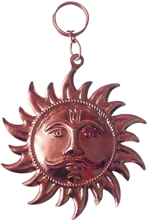 Iron Copper Plated Wall Hanging Sun - Gift and Handicrafts