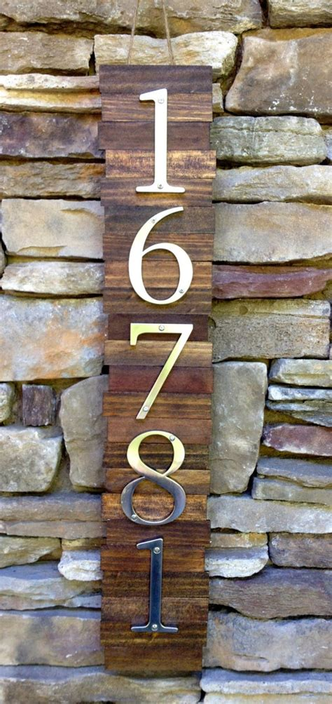 Items similar to Decorative House Number Plaque (5#'s
