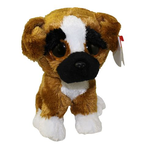 TY Beanie Boos Brutus Boxer Dog Soft Toy with Organza Pull
