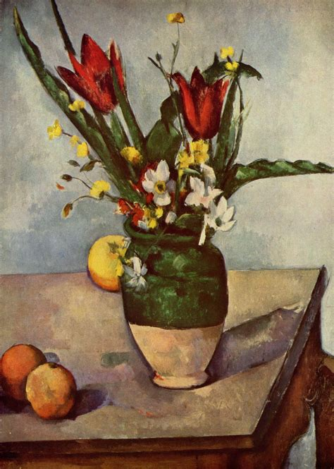 Still Life, Tulips and apples, 1894 - Paul Cezanne