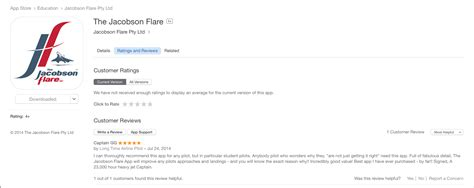App Store (Australia) Review – The Jacobson Flare App