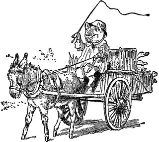 Pig Driving Car Pull By Donkey   ClipArt ETC