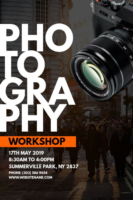Photography Workshop Poster Template | PosterMyWall