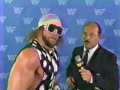 When someone asked if I'm totally done with Macho Man