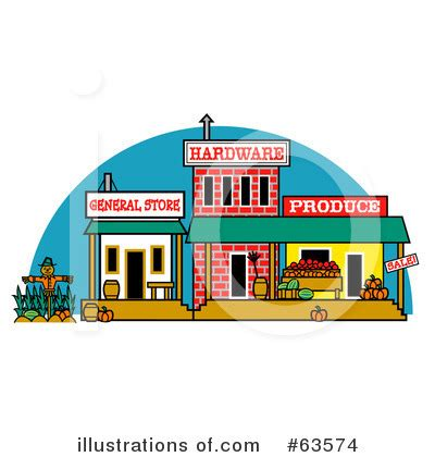 Town Clipart #63574 - Illustration by Andy Nortnik