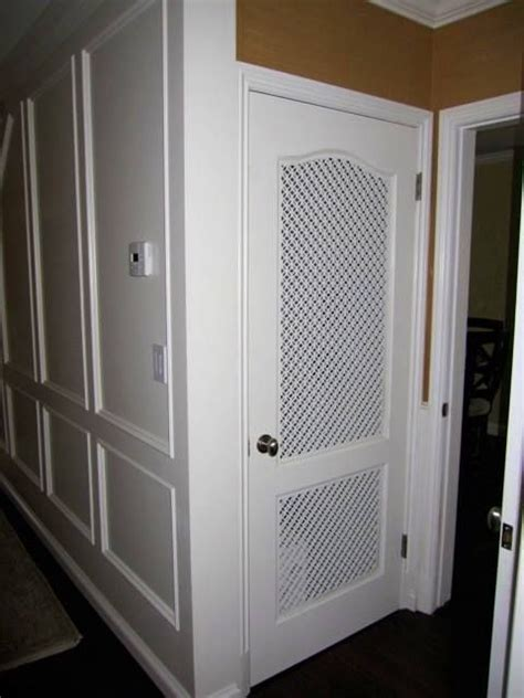 What a cool idea, custom vent panels for a pantry door