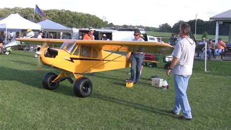2/3 Scale 19FT Wingspan electric start Piper Cub flys