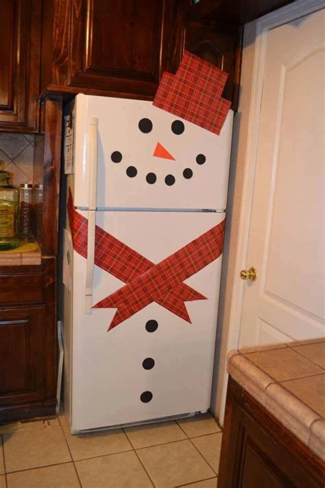 How To Decorate Snowman Refrigerator | BeesDIY