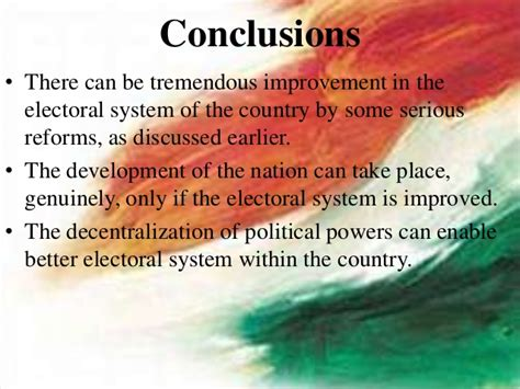 Ppt on electoral system in india