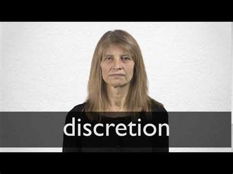 Discretion definition and meaning   Collins English Dictionary