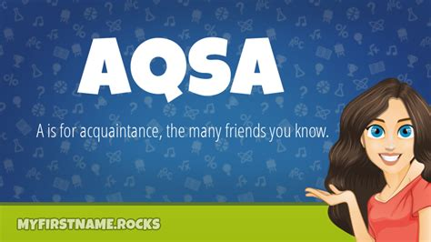 Aqsa First Name Personality & Popularity