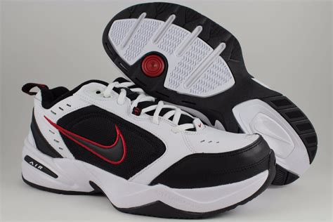 NIKE AIR MONARCH IV 4 EXTRA WIDE 4E EEEE WHITE/BLACK/RED