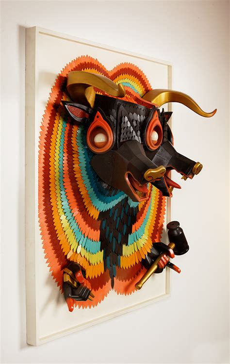 AJ Fosik's New Wooden Sculptures Jump Off the Canvas