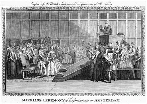 Protestant Wedding, 1700s Photograph by Granger