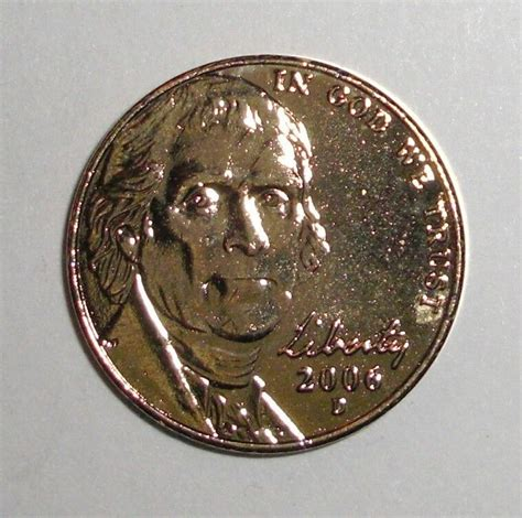 2006 US 5 cents nickel 24K Gold plated coin | eBay