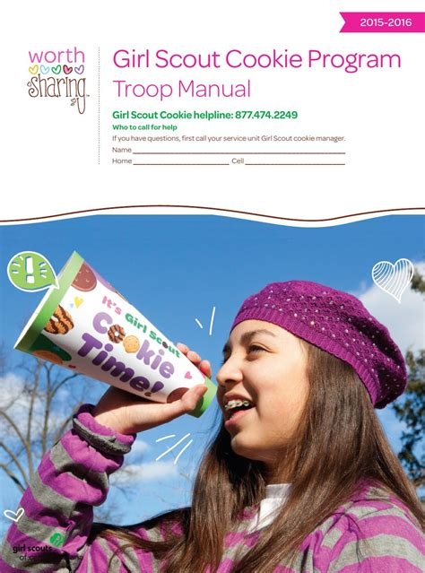 2016 Troop Cookie Manual by Girl Scouts of Central Indiana