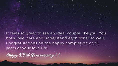 25th Wedding Anniversary Wishes - Messages and Quotes