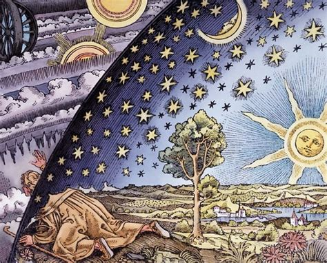 """Man poking his head through the firmament 